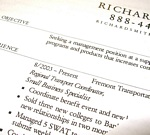 Avoid clichéd superlatives and proclamations on résumés