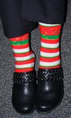 Holiday-themed socks for relaxed wear