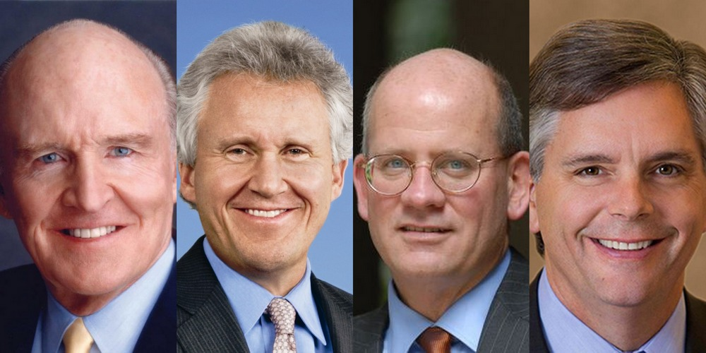 General Electric Recent CEOs: Jack Welch, Jeff Immelt, John Flannery, Larry Culp