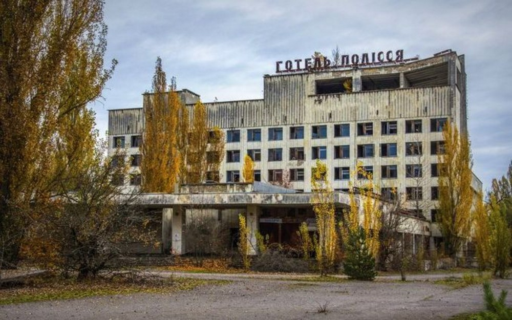 Abandoned City of Pripyat Near the Chernobyl Facility
