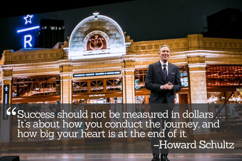 Starbucks founder, Chairman, and CEO Howard Schultz