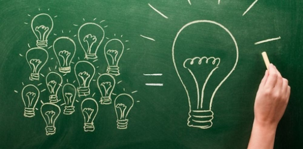 Ideas Evolve over Time by Blending with Other Ideas