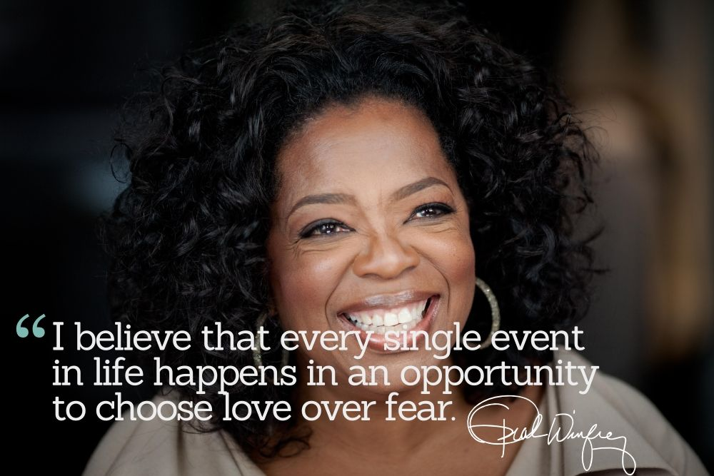 Inspirational Quotations by Oprah Winfrey, American Television Personality