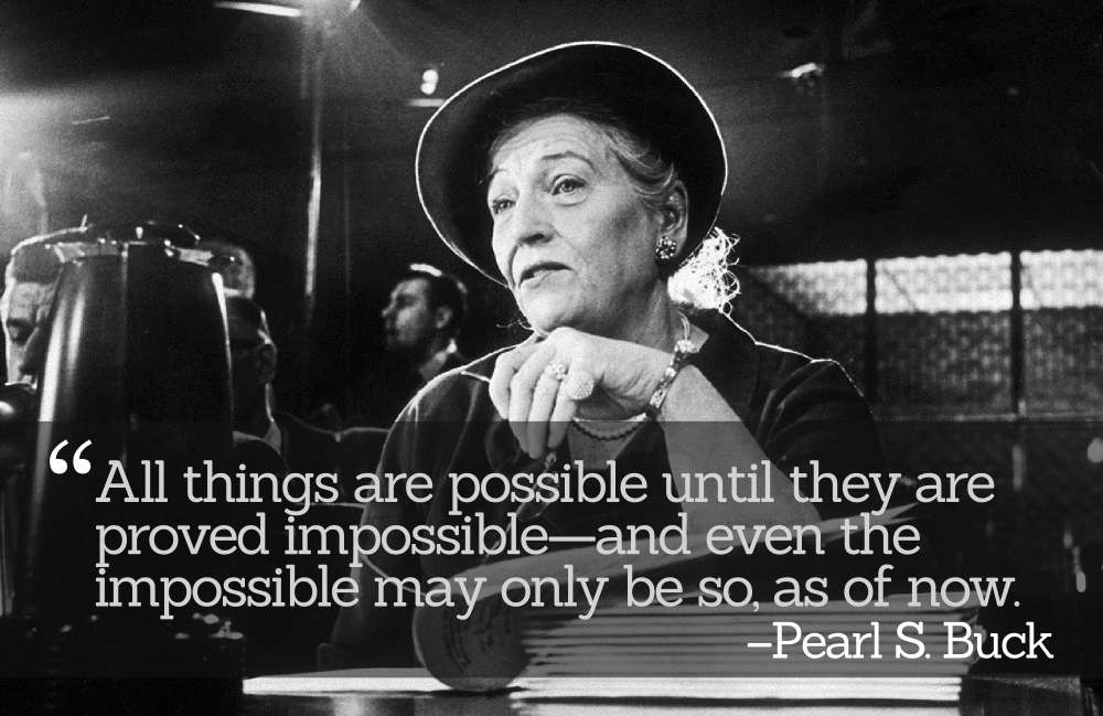 Inspirational Quotations by Pearl S. Buck