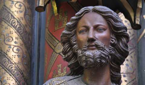 Jesus Christ status in La Sainte-Chapelle in Paris