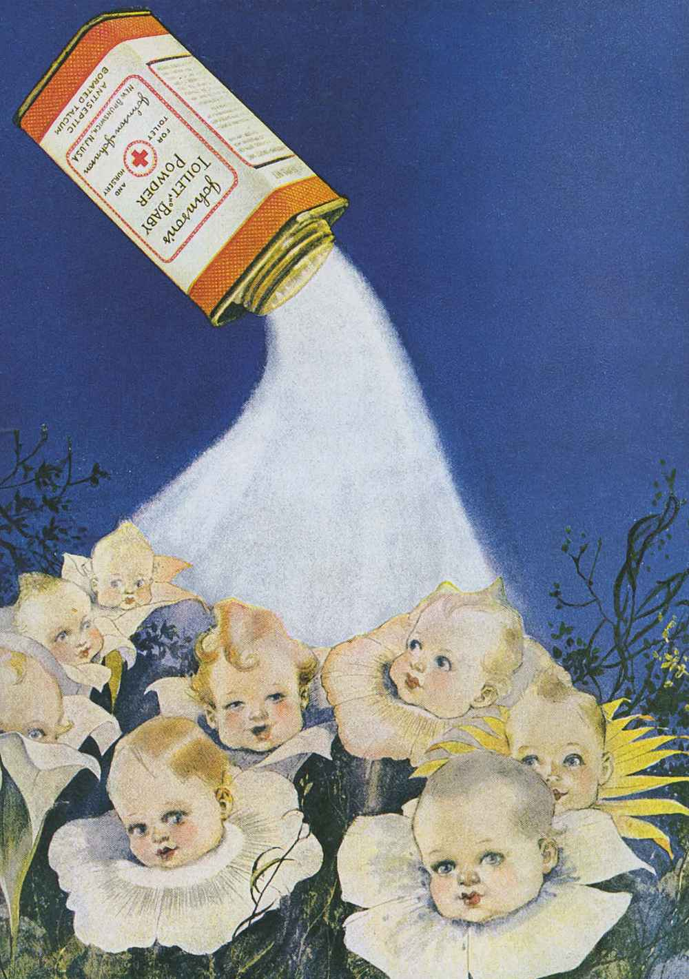 1921 Advertisement: Johnson's Toilet and Baby Powder - Antiseptic Borated Talcum Powder