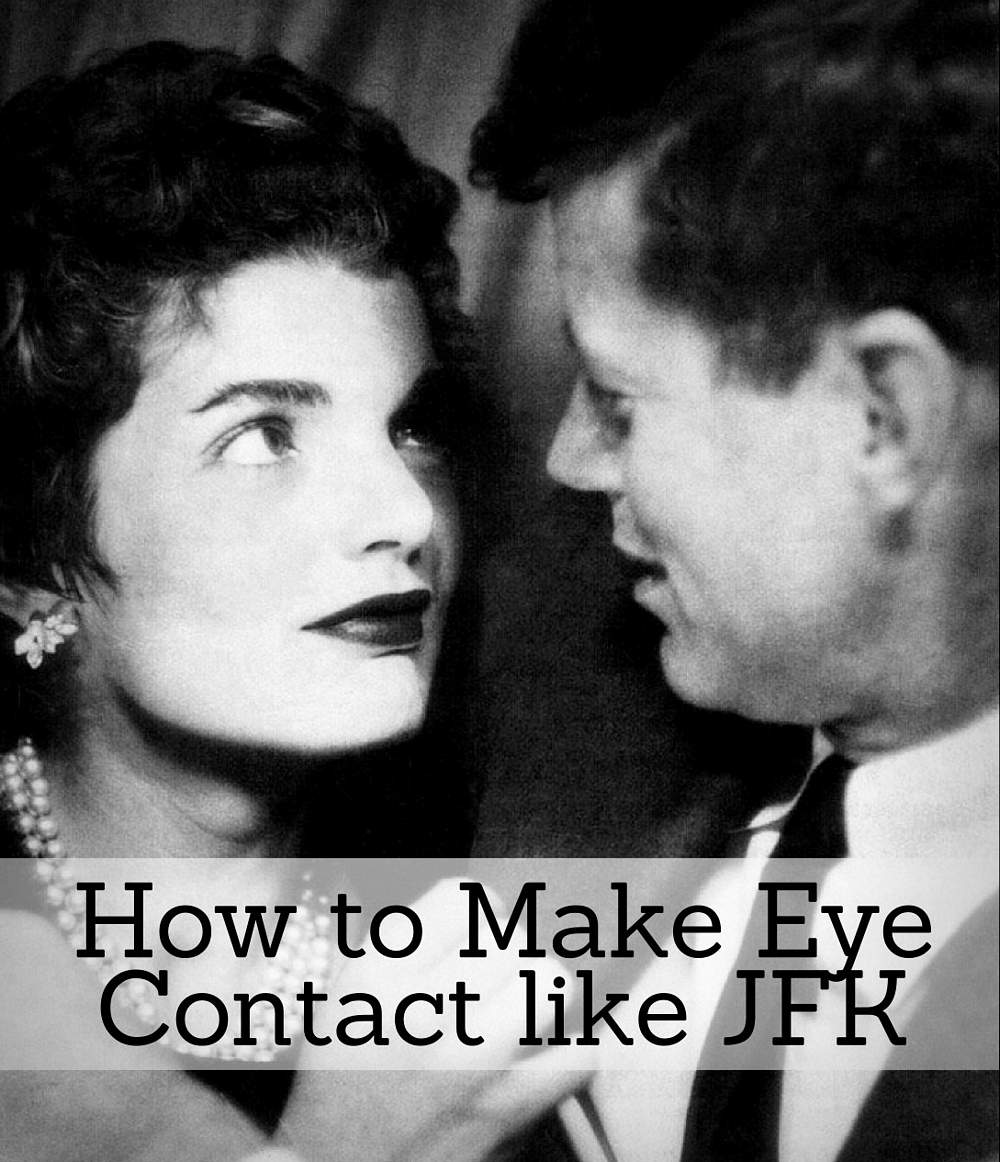 Keeping Good Eye Contact: President John Kennedy (JFK) with Jackie Kennedy