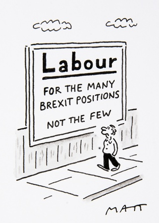 Matthew Pritchett's cartoon: Labour For the Many Brexit Positions Not the Few