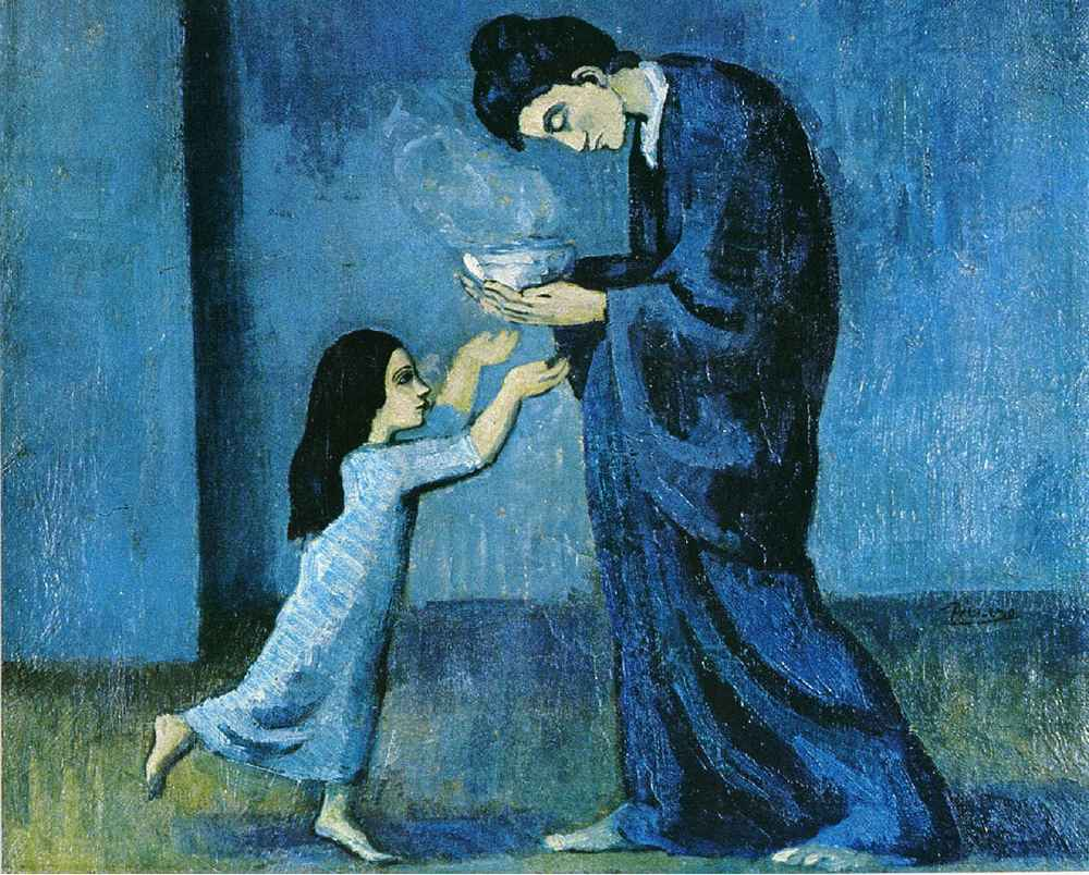 The Soup, 1902 by Pablo Picasso (from his Blue Period)