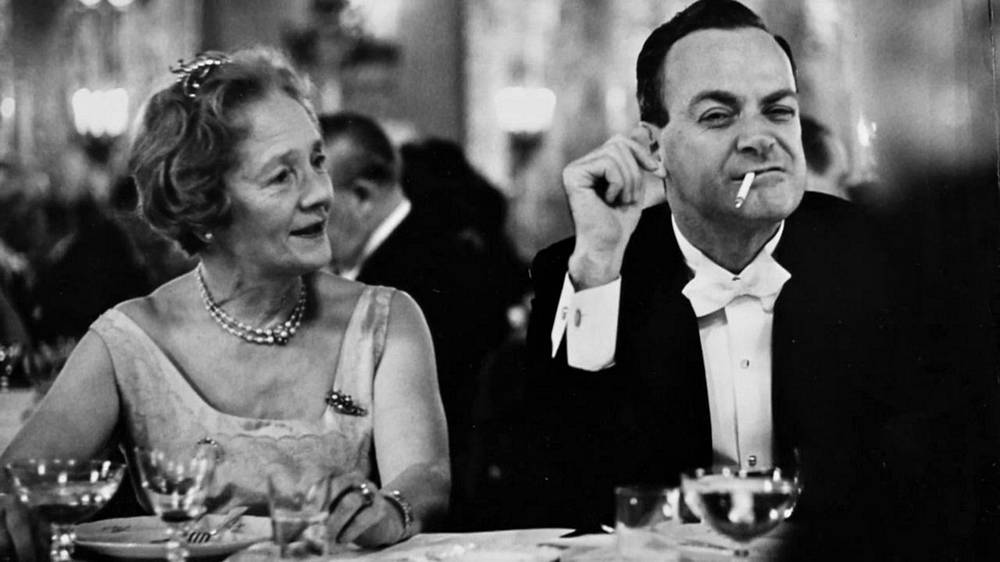 Richard Feynman with a Princess of Denmark at the 1965 Nobel Banquet