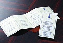 Ritz-Carlton Gold Standards Credo Card - Customer Service
