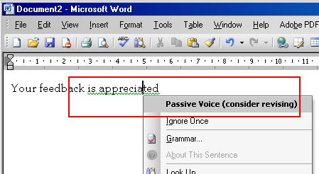Identify and Eliminate Passive Voice in Microsoft Word