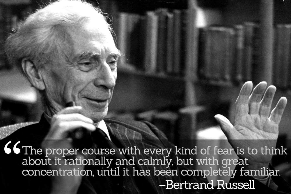 Bertrand Russell: Nothing that happens to oneself has any cosmic importance