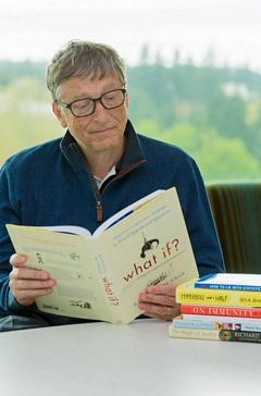 Bill Gates Reading one of his Favorite Books