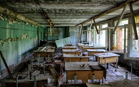 Abandoned Contaminated School In Chernobyl Exclusion Zone