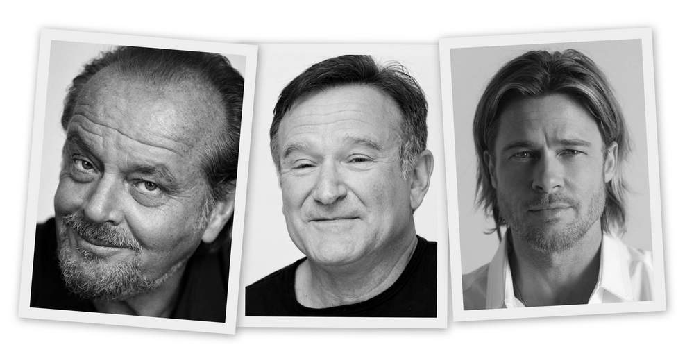 Jack Nicholson, Robin Williams, Brad Pitt---Hollywood actors with humble early careers who didn't just wait around for dream jobs to turn up