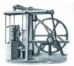 James Watt invented his seminal separate-condenser steam engine