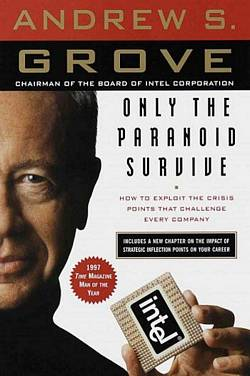 'Only the Paranoid Survive' by Andrew S. Grove (ISBN 0385483821)