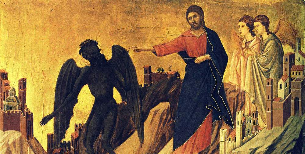 Temptation of Christ on the First Day of Lent